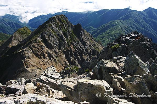 五龍岳縦走路からG2峰