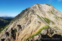 五龍岳G2峰から本峰