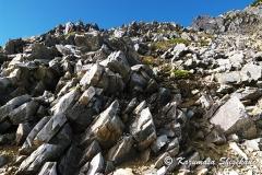 五龍岳頂上直下の奇岩群