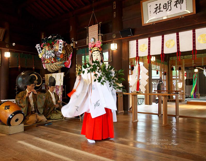 所澤神明社 秋季例祭、前田社中・竹間澤神楽