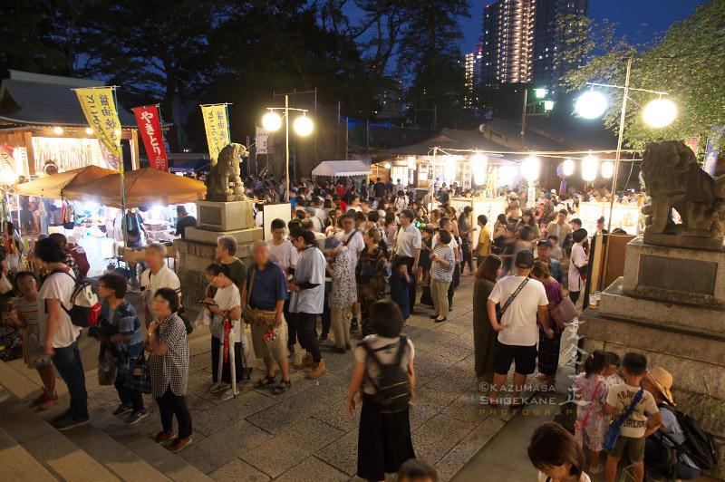 所澤神明社 七夕祭 参拝者の行列