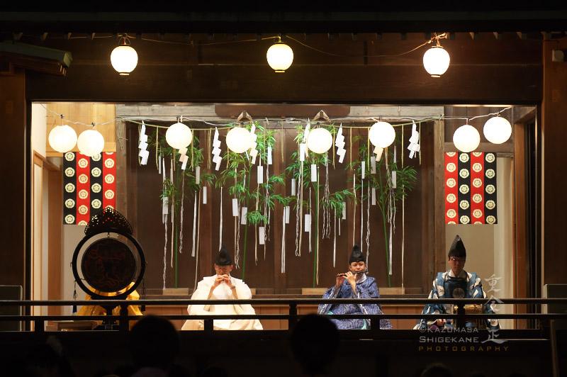 所澤神明社 七夕祭 雅楽の演奏奉納