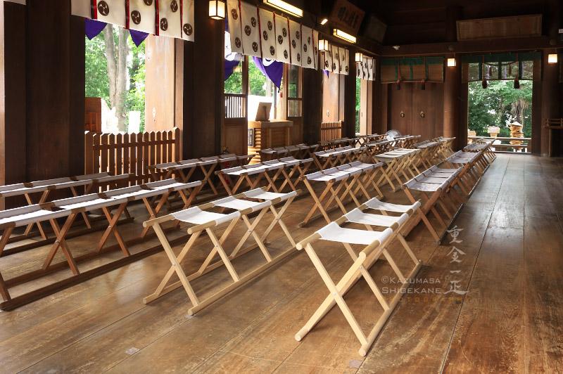 所澤神明社 例祭直前の拝殿内