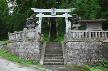 鬼無里 白髯神社 鳥居(d20150907-048)