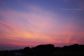 平成27年7月12日の夕焼け d20150712-001