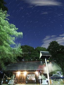 所澤神明社と夜空 d20150714-023_mix2