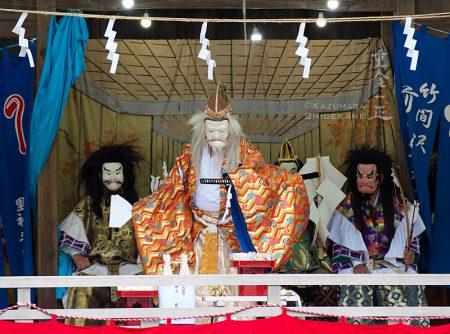北野天神社 秋季例祭 前田社中 竹間澤神楽「住吉三神~寿式三番叟~」