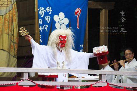北野天神社 秋季例祭 前田社中 竹間澤神楽