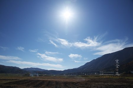 立冬の南中 長野県白馬村