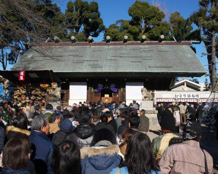 元旦の所澤神明社