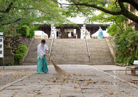 所澤神明社 例祭前日の参道
