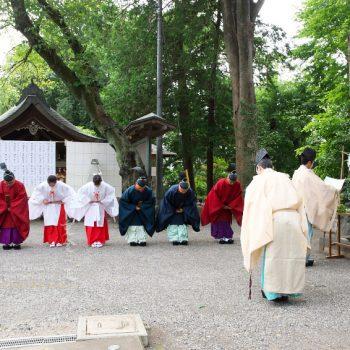 所澤神明社 例祭 修祓