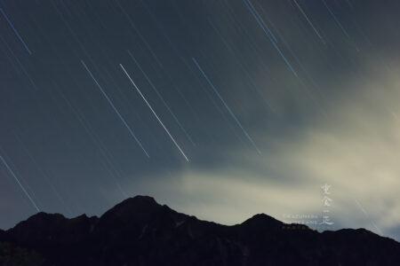 五龍岳に沈みゆく星々